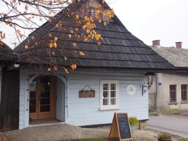 Kawiarnia w zabytkowym drewnianym domu