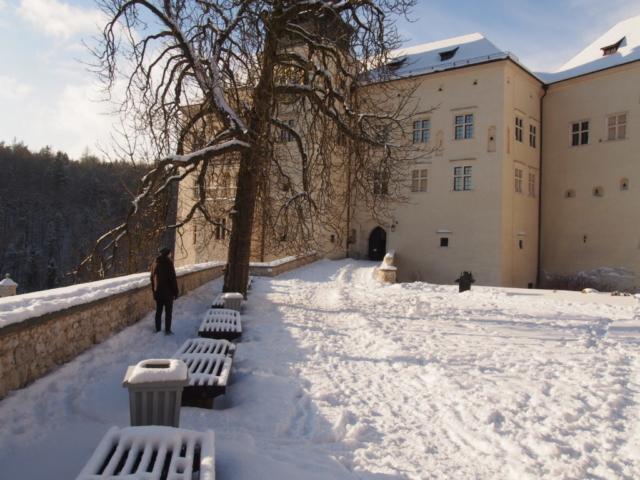 Dziedziniec zamku Pieskowa Skała