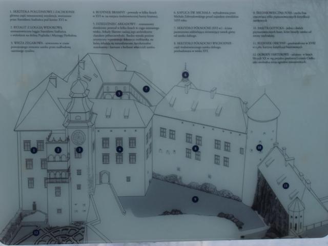 Plan zamku Pieskowa Skała