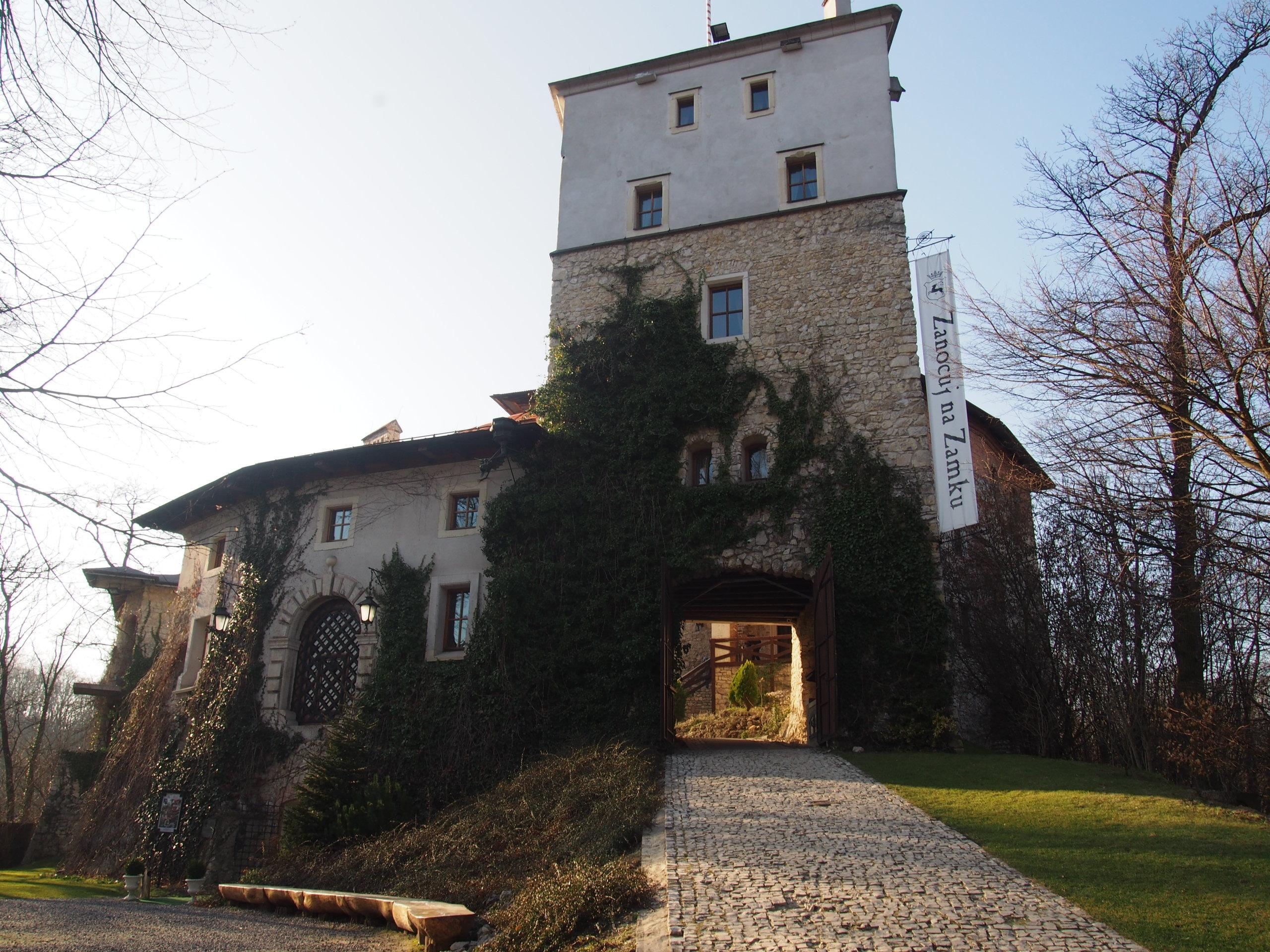 Widok na zamek od przodu