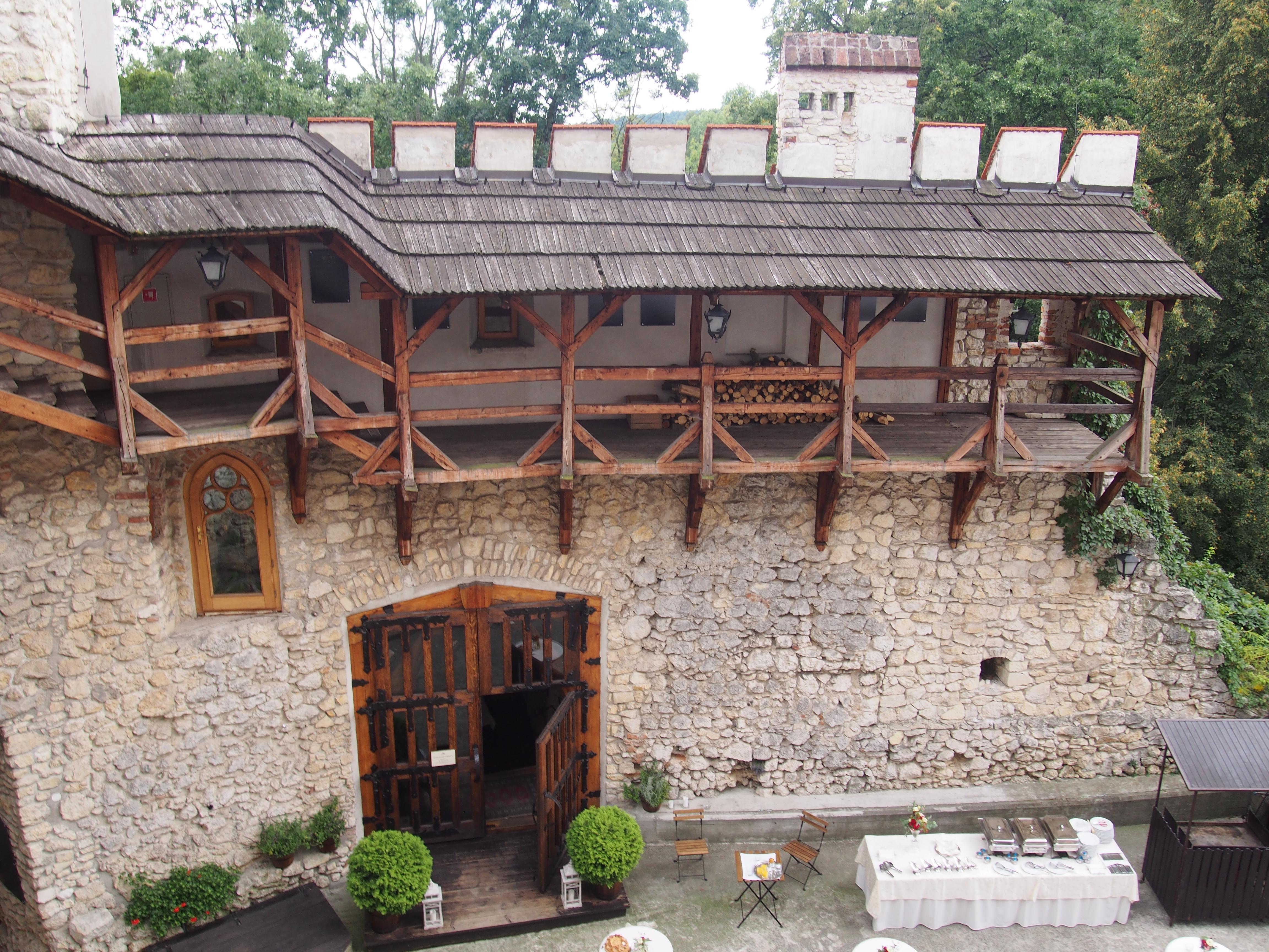 Krużganki na piętrze zamku